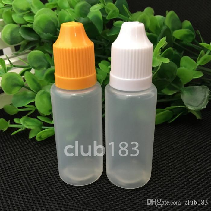 Freies Verschiffen Tropfflasche für E Flüssigkeit bei aktiven Kindern Caps 20ml Elektronische Zigarette Kunststoff PE-Flaschen