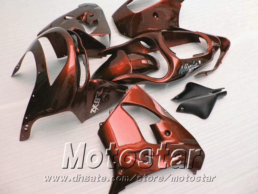 Popular fairings for Kawasaki ZX9R 1998 1999 ninja fairing kit 98 99 ZX-9R brown black motorcycle parts SG99