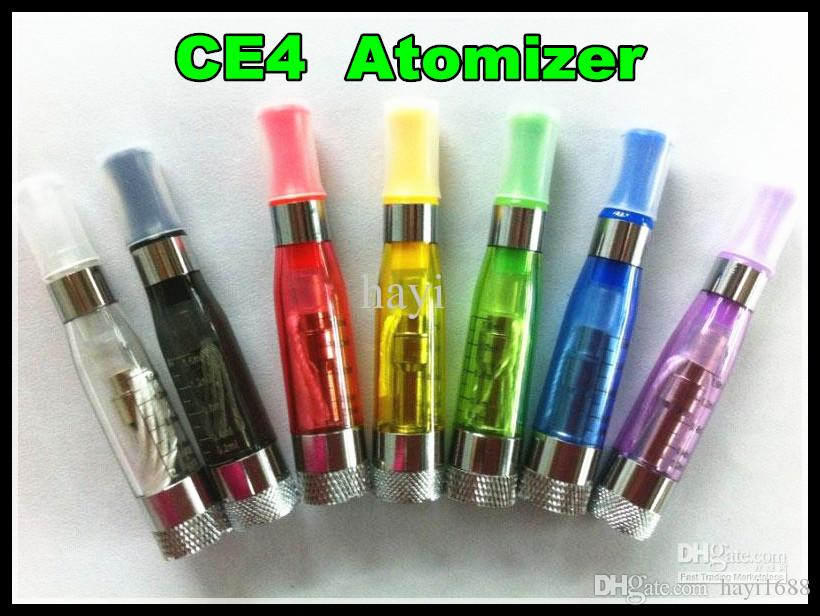 Fastest Ship CE4 Atomizer Colorful ce4 Electronic Cigarette Clearomizer with Long wick 1.6ml adapter suit for all ego-t ego w battery ecigs
