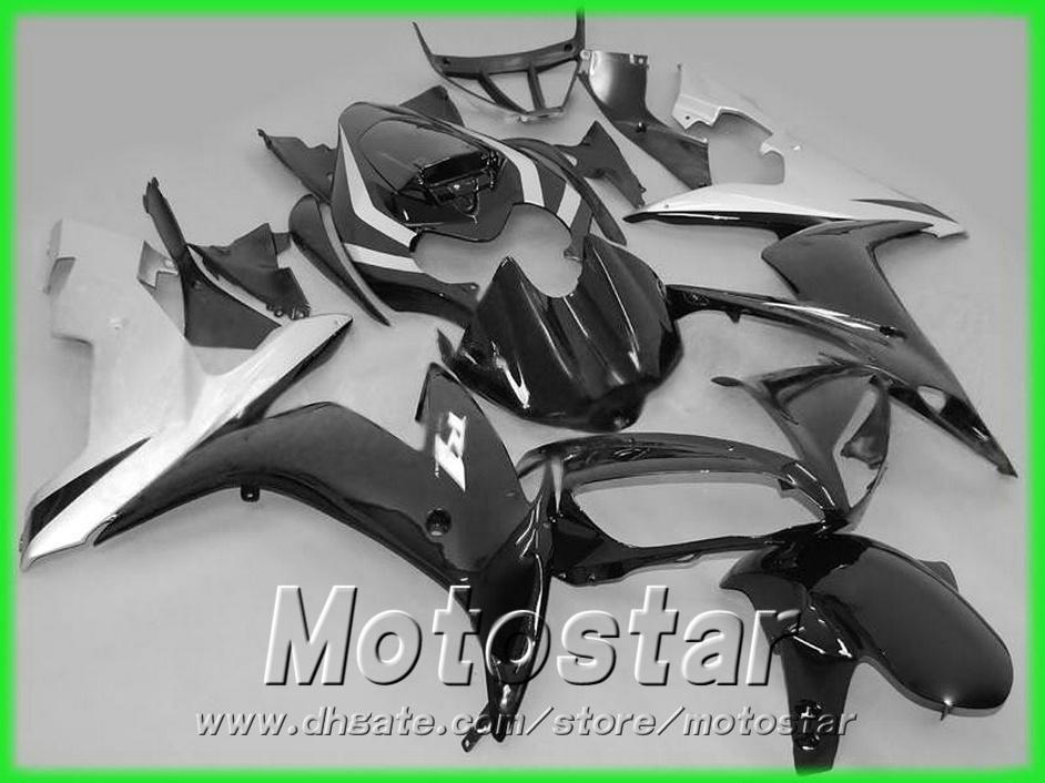 100% Injection molding lowest price fairings set for YAMAHA 2004 2005 2006 YZF R1 silver black fairing kit 04-06 yzf-r1 bodykits RY45