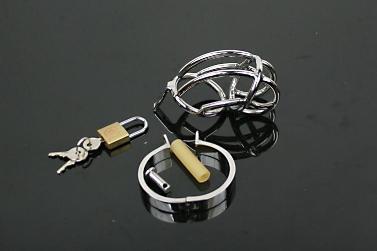 Male Chastity Device Belt Stainless Steel Cock Cage Bicyclic Metal Crafts Sex Toys Restraint Bondage gear adult sex toys for men sale ##A081