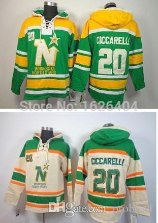 Minnesota North Stars Vintage  20 Dino Ciccarelli Winter Hooded Ice ... c5f42be64
