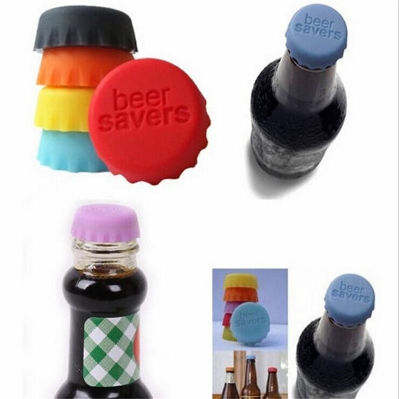 다기능 크리 에이 티브 맥주 실리콘 병 모자 가기 병 마 개 뚜껑 와인 주류 주방 바 도구 휴관