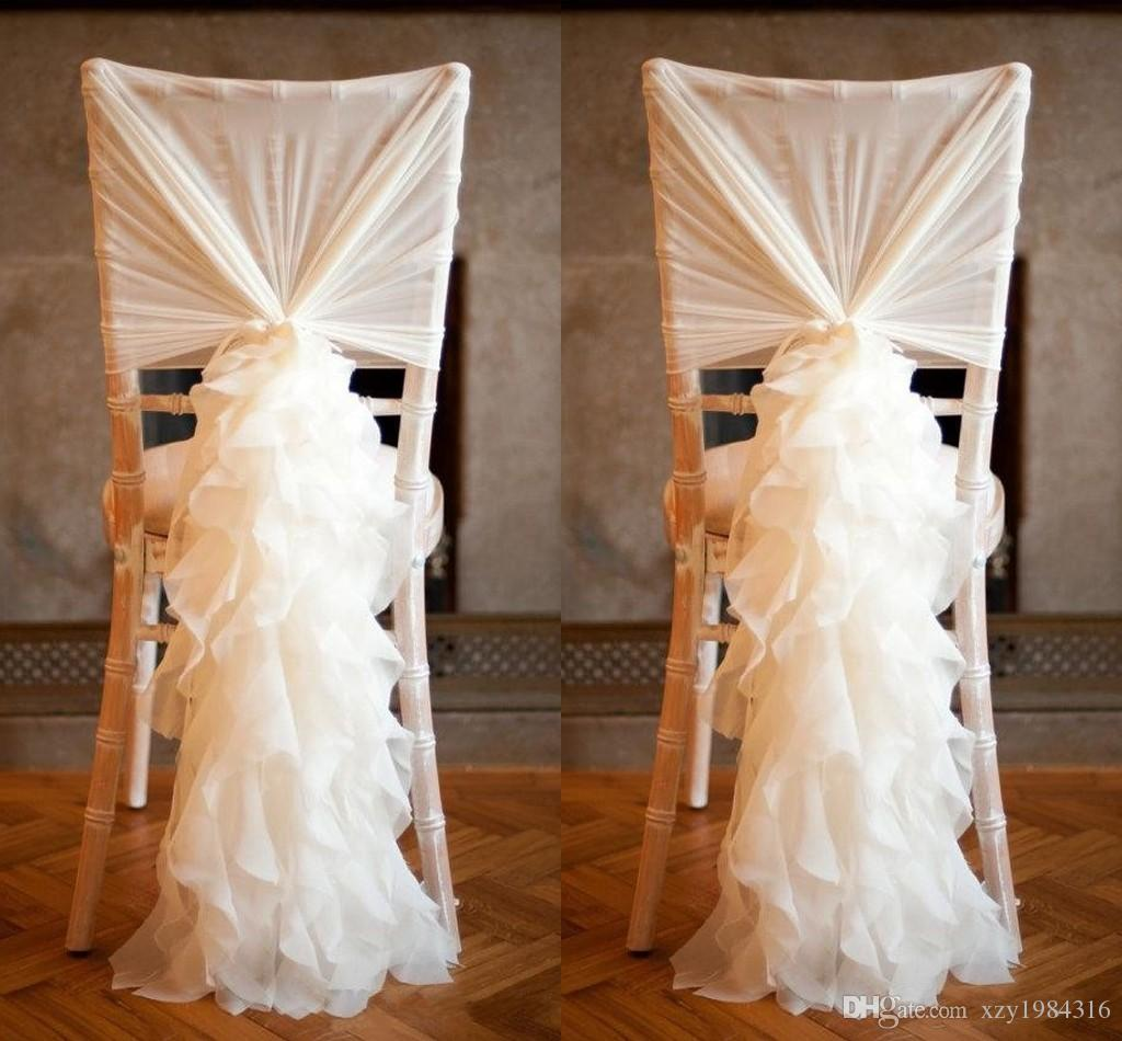 2018 2015 new arrival chiffon chair covers for weddings for Sillas para novios