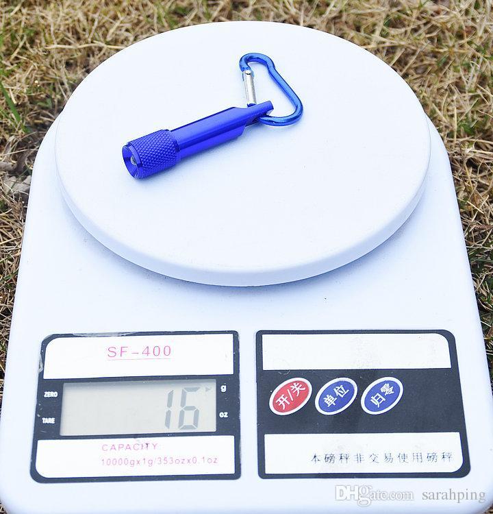 Beste tragbare Mini-LED-Taschenlampe Schlüsselbund Aluminiumlegierung Taschenlampe mit Karabiner Ring Schlüsselanhänger LED-Mini-Taschenlampe Mini-Licht