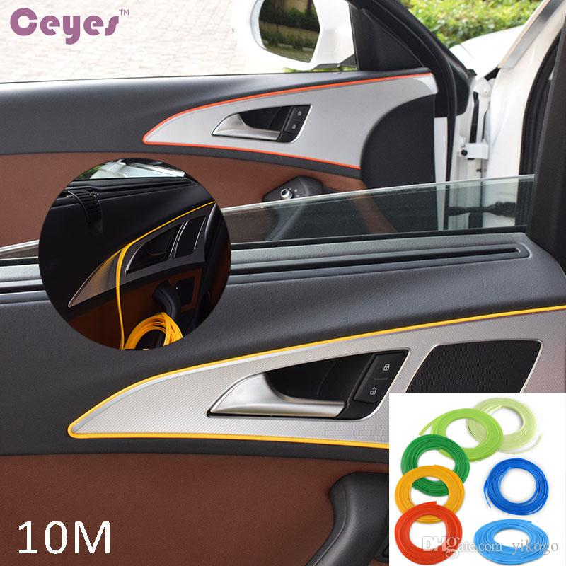 10mCar Styling Interior Decoration Thread Sticker Insert Type Air ...