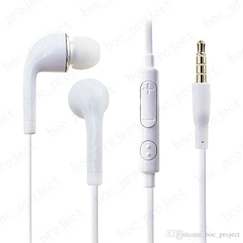 In-Ear стерео наушники 3,5 мм наушники-гарнитура с микрофоном и пультом дистанционного управления для Samsung S6 край S5 S4 Note5 Примечание4 + розничный 100шт пакета / много