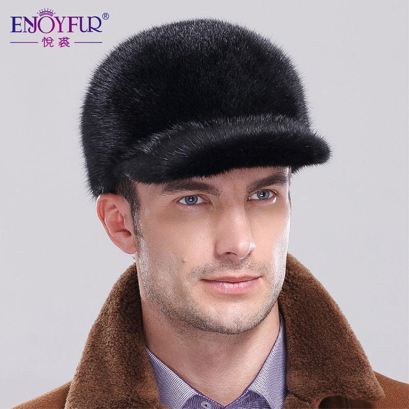 Natural SAGA Velet MInk Fur Visors Hats Winter Men s Full Mink Fur ... 6b26f822b422