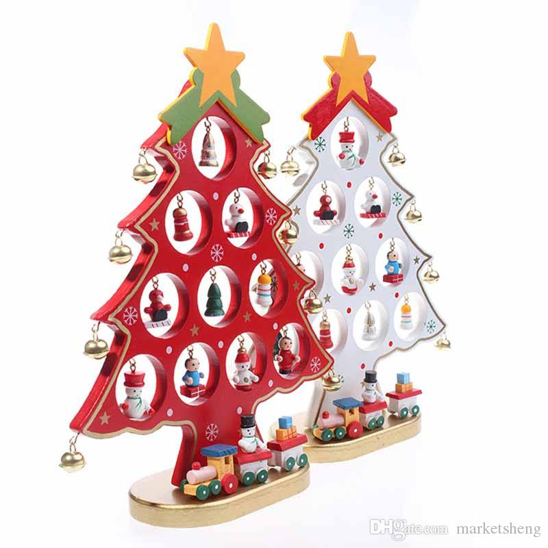 Details about 27cm beautiful wooden christmas tree for Cheap xmas decorations
