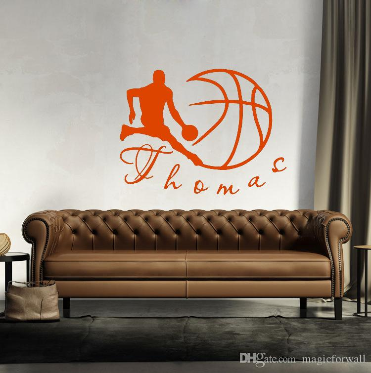 Boys and Basketball Wall Art Mural Decor Kids Boys Room Wallpaper Decor poster Graphic Home Art Decal Decor