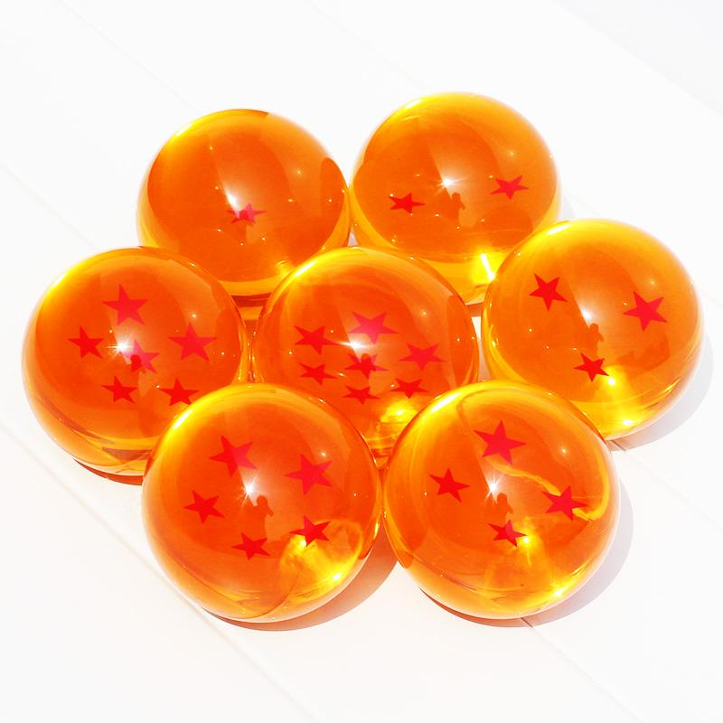 New In Box DragonBall 7 Stars Crystal Ball 3.5cm Set of Dragon Ball Z Balls Complete set