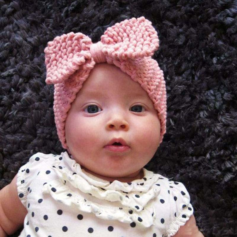 Winter Girls Crochet Headband Baby Knitted Bow Hairband