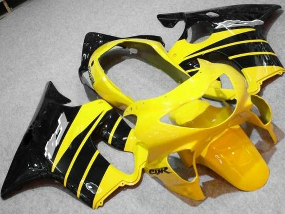 Personalizar las piezas de reparación del cuerpo negro amarillo para Honda CBR600 F4 carenado 99 00 CBR 600 F4 1999 2000 carenados kit SVUX