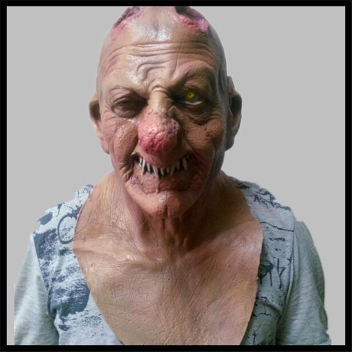 Free shipping Halloween Party Cosplay Adult Melting Face Zombie Bloody Undead Horror Adult Latex Scary Insane Halloween Mask