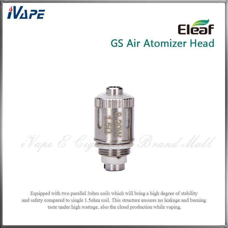 Eleaf iSmoka GS Air Dual Coils Sostituzione GSAir Dual Coils 1.5ohm Funziona con 8 - 20 W Eleaf GSAir GS Air Tank 100% autentico