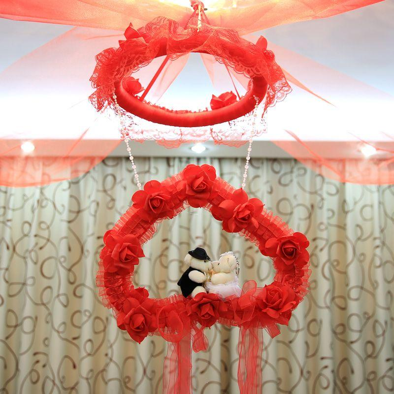 The New Garland Wedding Marriage Room Layout Home Decorative Items Pull Hi Yarn Flower Ball Ornaments Shaman