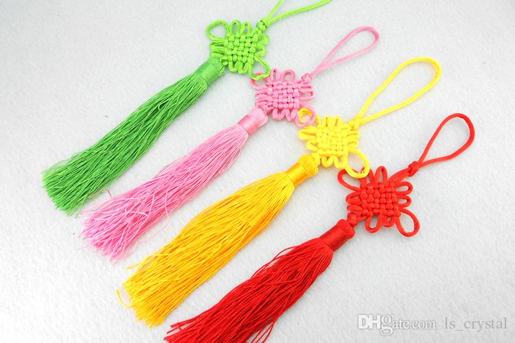 Multi Color Cute Chinese Knot Pretty Car Hanging Accessories DIY MINI Hand Weaving Craft Traditional Interior Decorations SK401