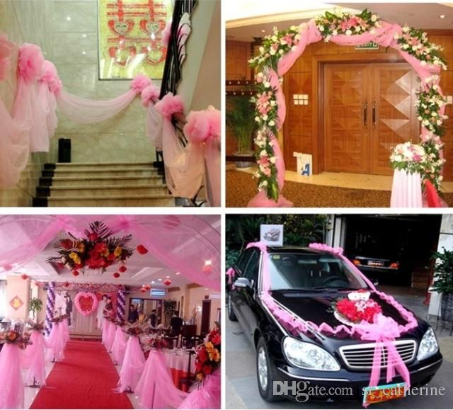 2016 Car Bumper Guard Guard 59 Width Wedding Decorative Tulle Yarn