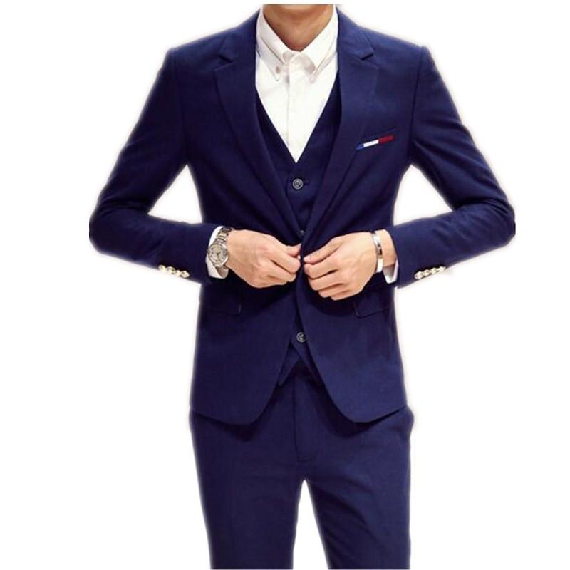 New Design Suits For Man Three Piece Suit Men Male Slim Fit Small ...