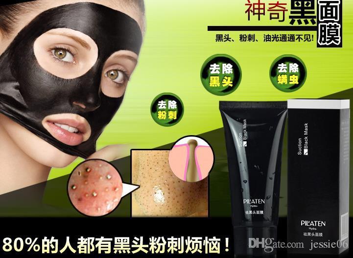Pilaten Mineral Çamur maskesi tüpler soyma Burun Siyah Nokta Gözenek Şerit erkekler kadınlar Temizlik Temizleyici Kaldırma Membranlar Şeritler temizleyici yüz cilt bakımı