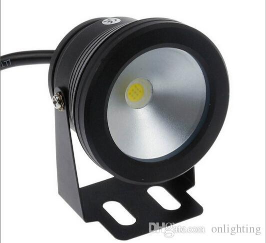 Podwodne LED Ciepłe Białe światło 1000LM Wodoodporna IP68 10W 12V Fontanna Basen Lampa Body Czarny Darmowa Wysyłka