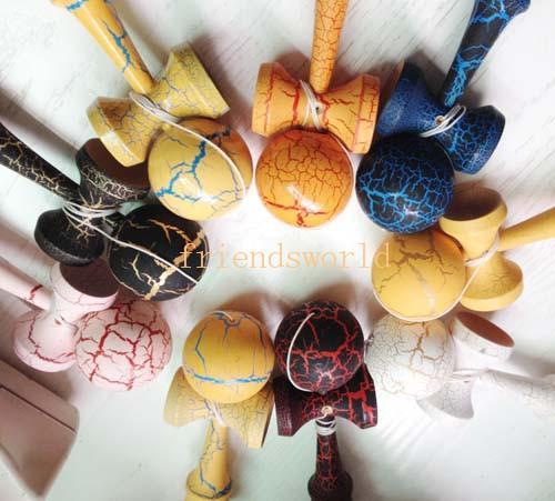 Fabricants Kendama Compétences Balle Professionnel Jeu Top Qualité Pleine Fissure Peinture Hêtre Kendama Ball Pour Tous Les Âges Intelligence Jouets