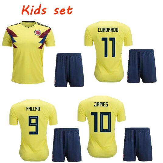 World Cup 2018 Cheap Low Price Camisetas De Futbol Colombia Ninos Rodriguez  James Youth Top Quality Kids Soccer Jerseys Football Kits 2018 UK 2019 From  ... 0e5b36ab5