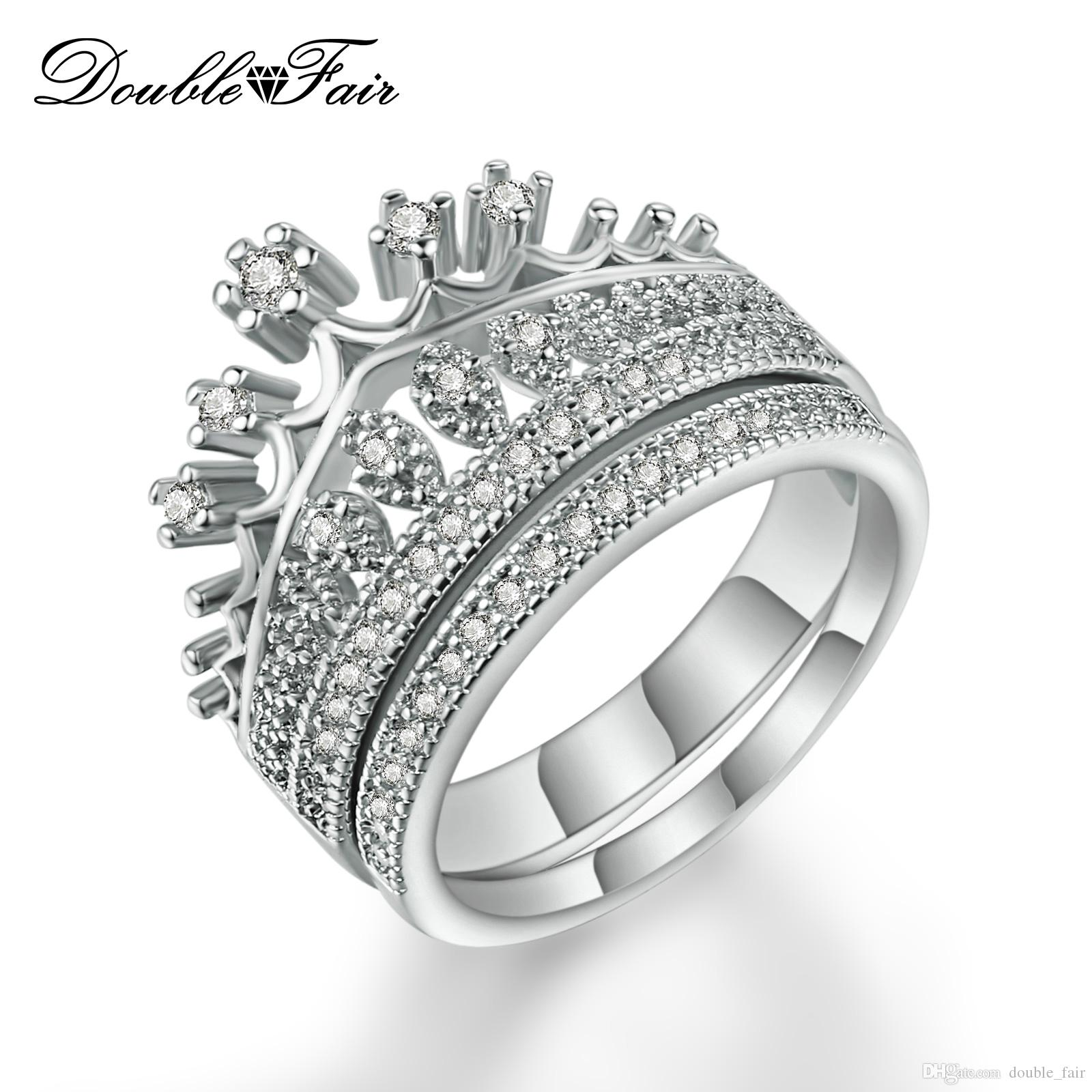 2018 Top Quality Imitation Crystal White Gold Plated Princess S