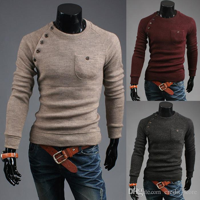 2018 New Styles Sweaters For Elegant Gentleman Mens Fashion Casual Long  Sleeved Cardigan Striped Color Men\u0027S Cotton Sweaters 7712 From  Credit_store,