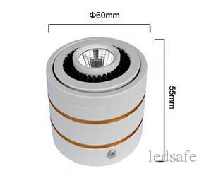 Rotativo da 360 gradi Lampadina Surface Mounted 3W 5W 7W PANNOCCHIA LED Downlight 85-265V AC caldo bianco freddo bianco della lampada giù le luci Lamparas De Techo CE