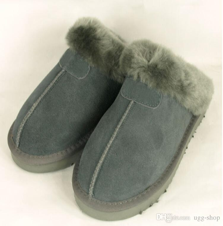 4dc367f0fb1 warm Warm cotton slippers Men And Womens slippers Short Boot Womens boots  Snow boots Brand Designer Indoor cotton slippers Leather boots