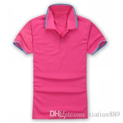20694136697e 2019 2017 New High Quality Summer Hot Sale Lapel Polo Cotton Shirt Men  Short Sleeve Sport Polo Striped Fashion Casual From Xiatian889