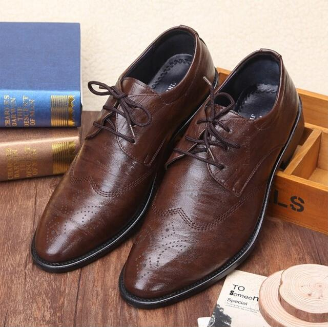 Men's Breathable Oxford Work Loafers In Leather