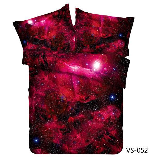 wholesale new galaxy theme incredible red nebula galaxy bedding set