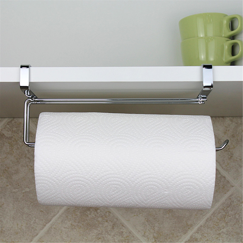 Kitchen Paper Towel Holder Hanging Kitchen Organizer Storage Rack ...