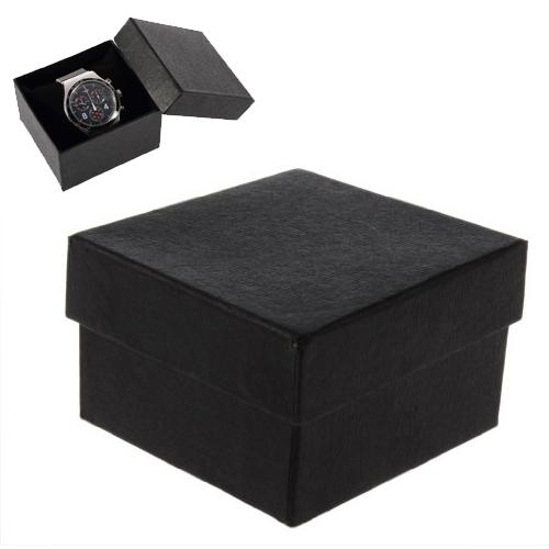Fashion Watch Boxes Black Square Watch Case With Pillow Jewelry