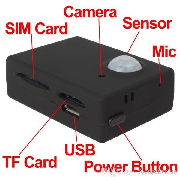 Sem fio Mini 1.3 M Câmera de Vídeo Infravermelho de Segurança GSM Autodial Escritório Em Casa GPS PIR Sistema de Alarme MMS