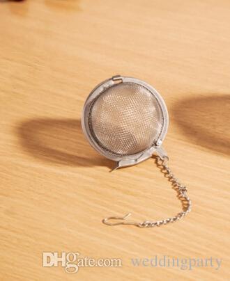 1000 pçs / lote atacado Diâmetro de Aço Inoxidável 4.5 cm Malha Esfera Bola Tea Spice Coador Bola