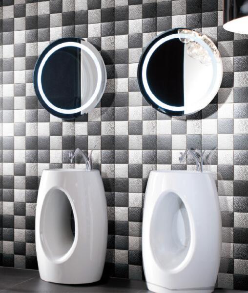 Design moderno azulejos de parede backsplash mosaico telhas de fundo TV mosaico decoração de casa praticamente livre de manutenção altamente durablel