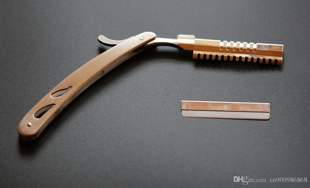 professionnel cheveux mince couteau coupe cheveux lame de rasoir épée grattage