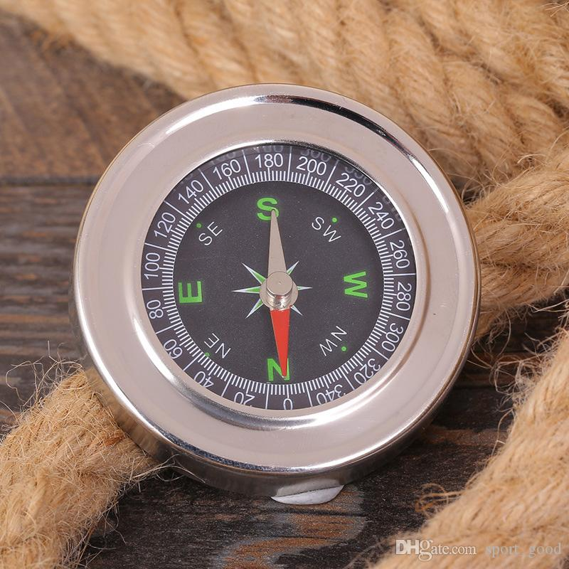 New outdoor sports gadgets portable retro round compass travel outdoor camping geology creative compass instrument compasses