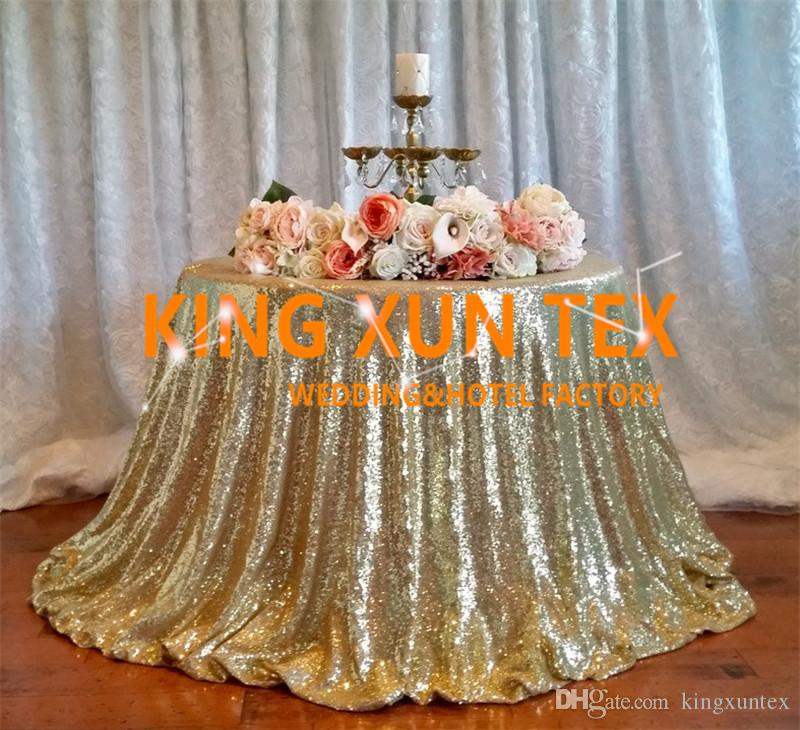 Sequin Table Cloth \ Cheap Wedding Tablecloth For Wedding And Event Decoration Free To Door Shipping