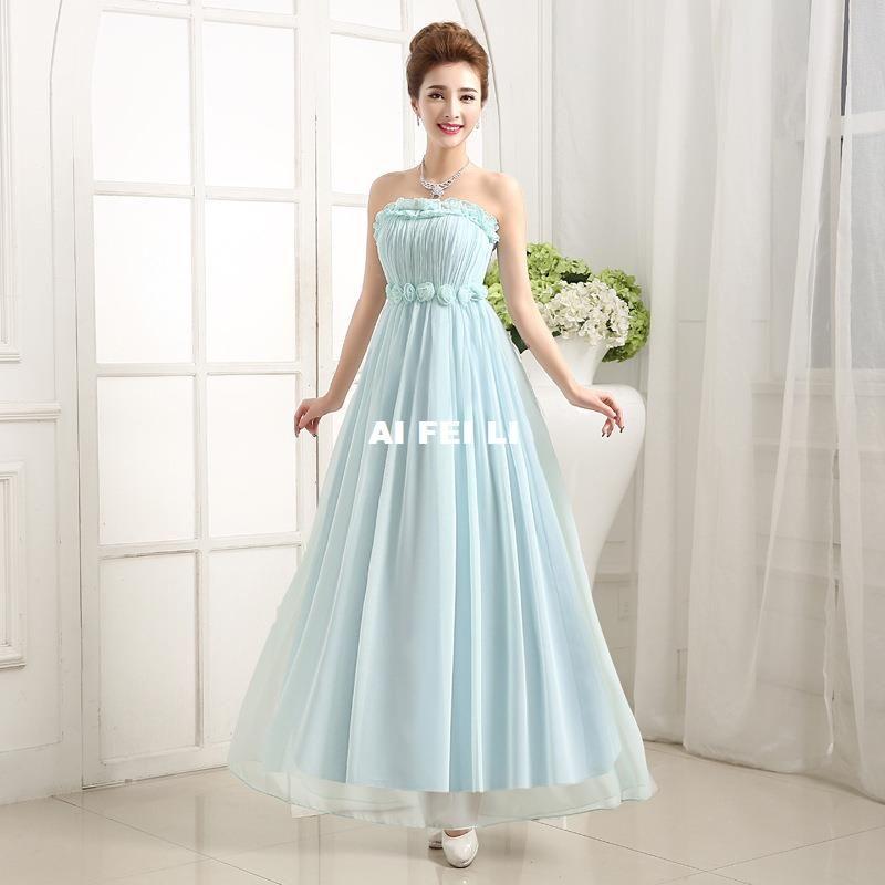 Spot Bridesmaid Dress Short Paragraph Bra Dress Skirt Dinner Toast ...