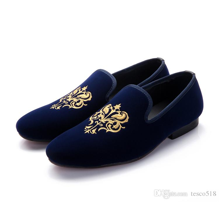Hot Fashion Men Loafers Classic Velvet Embroidery Flat Shoes Vintage Men S  Flats Brand Mens Smoking Slippers Man Casual Shoes Black Red Shoes Uk Pumps  Shoes ... 57fd88eca7cf