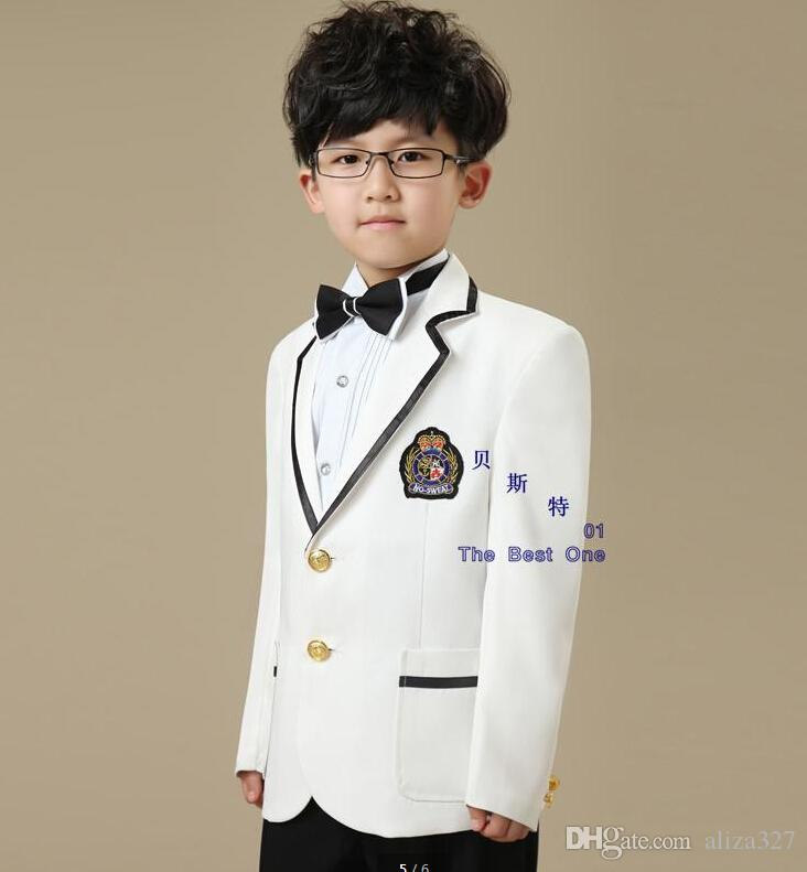 Fashion Black And White Boy Small Suit Dress Suit Children ...