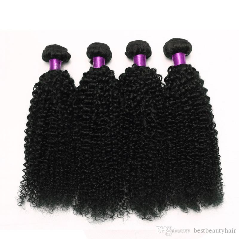 3 pièces Kinky Curly Vierge cheveux bouclés Brésilien Vierge cheveux bouclés Meilleur cheveux humains Weave 8A Vierge brésilienne Kinky Non traité En vente