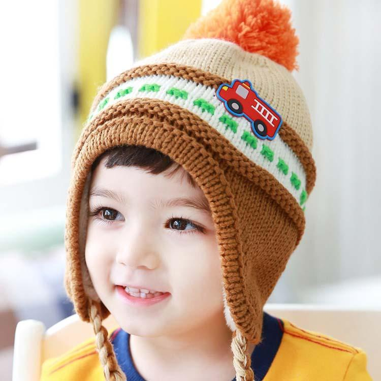 2018 Wool Cap Kid Boys Girls Caps Hats Fashion Knit Hat Patterns ...
