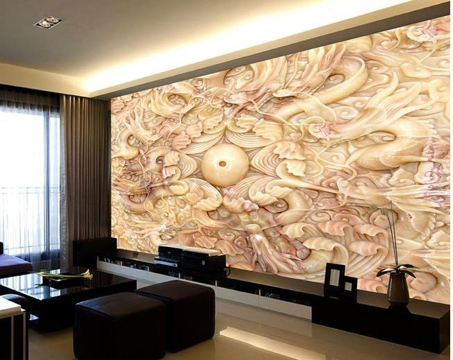 3d Wallpaper European Minimalist Bedroom Living Room Tv Backdrop ...