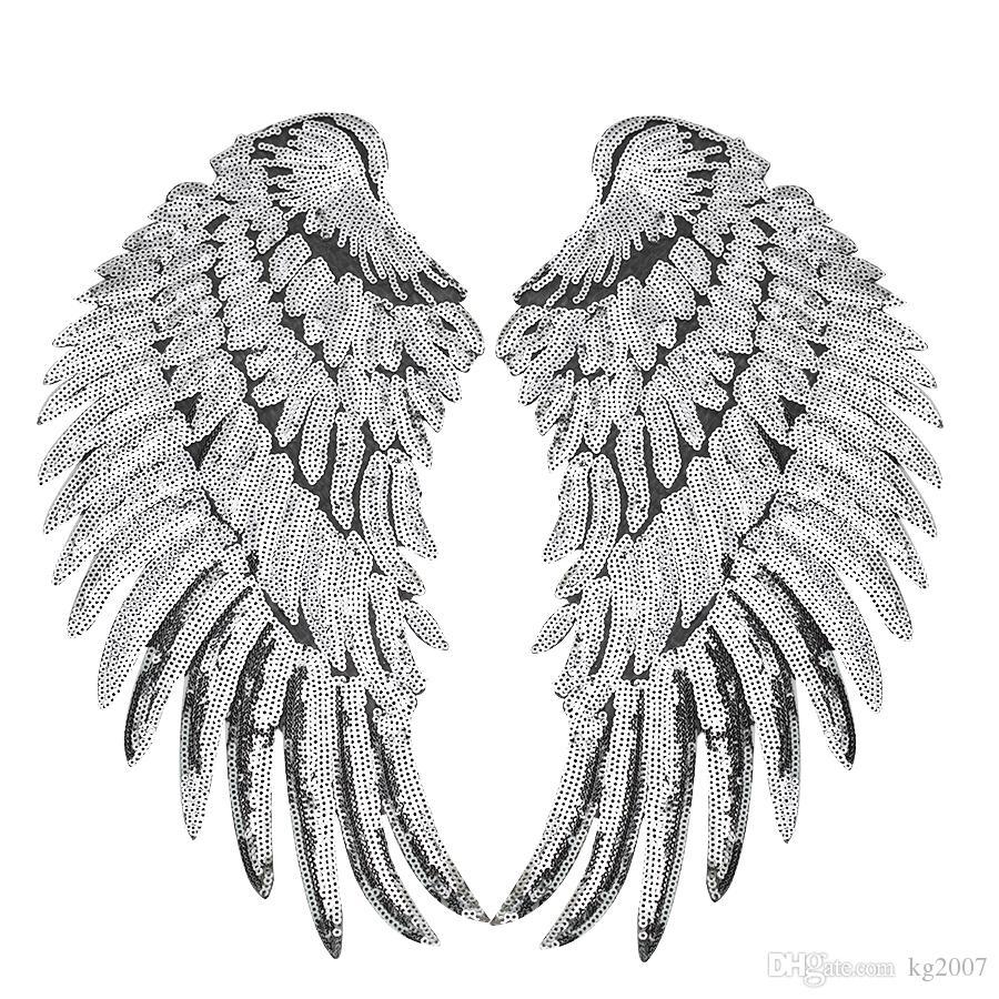 1 쌍의 옷을위한 조각한 날개 패치를위한 의류 철에 대한 패치 재킷 청바지에 대 한 Applique 패치 자수 조각에 재봉