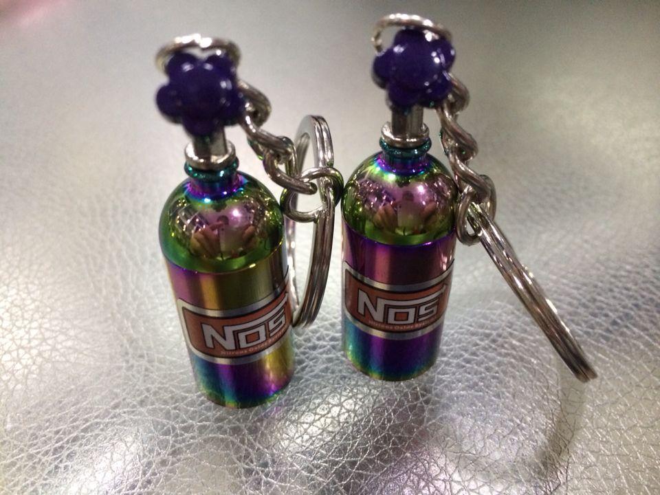 Rainbow in a Bottle Keychain
